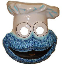 COOKIE MONSTER VINTAGE PLASTIC MASK