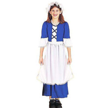 Colonial Girl Child Costume Blue