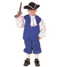 Blue Colonial Boy Child Costume