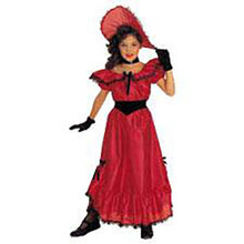 Southern Belle Costume Child Red