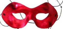 PARTY MASK RED