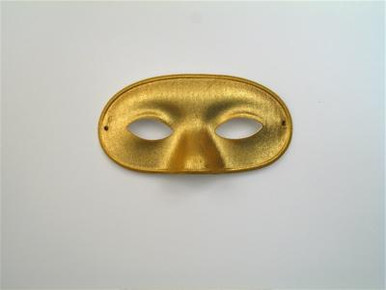 DOMINO LAME GOLD MASK