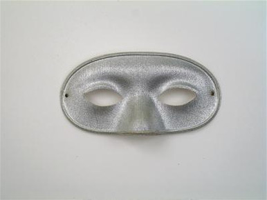 DOMINO LAME SILVER MASK