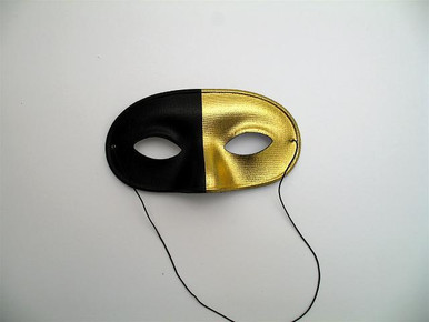 DOMINO LAME BLK/GOLD MASK