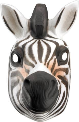 ZEBRA ANIMAL MASK PLASTIC