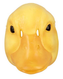 YELLOW DUCK MASK PLASTIC