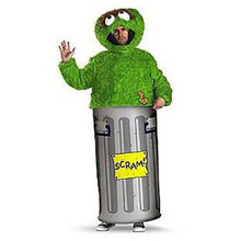 Oscar The Grouch Adult Costume Large