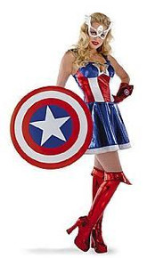 CAPTAIN AMERICAN COSTUME SASSY ADULT