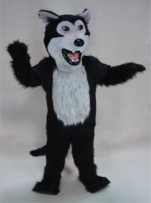 Black Wolf Mascot Costume (Purchase)