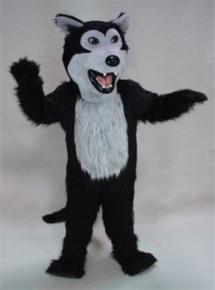 Black Wolf Mascot Costume (Purchase)
