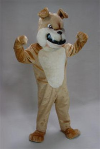 BULLDOG MASCOT COSTUME TAN PURCHASE
