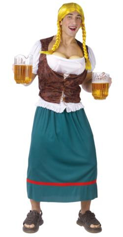 BEER GIRL COSTUME MALE ADULT STD