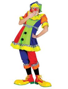 SPANKY STRIPES CLOWN ADULT FEMALE