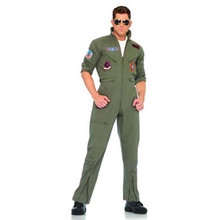 Top Gun Jumpsuit Adult Costume Lg/Xl