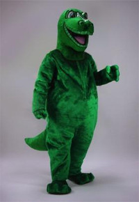 HAPPY GREEN DINO MASCOT PURCHASE