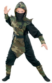 Ninja Child Costume Camo Size Small