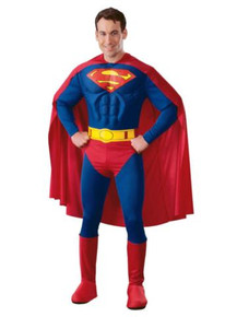 SUPERMAN DLX MUSCLE COSTUME ADULT