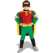 Robin Teen Titans Muscle Costume Tod 2-4