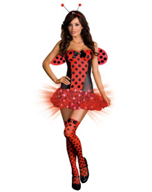 Ladybug Light Me Up  Adult Costume