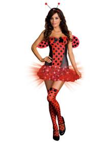 Light Me Up Ladybug Sexy Adult Costume