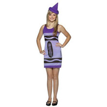 Crayola Dress Purple Teen Costume 14-16