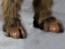 BROWN HOOFED FEET