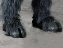 BLACK HOOFED FEET