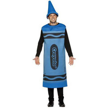 Crayola Crayon Adult Costume Blue