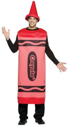 CRAYOLA CRAYON ADULT COSTUME RED