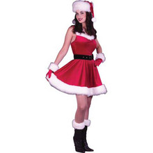 Santa Baby Dress Adult Costume Sm/Med