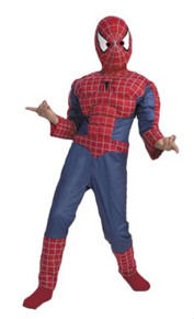 SPIDERMAN 2 MUSCLE CHEST CHILD COSTUME 7-10