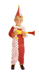 Clown Dotted Infant Costume 1-2