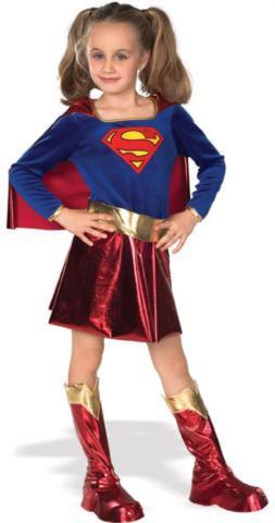 SUPERGIRL DLX COSTUME CHILD