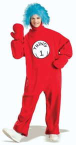 CAT IN HAT THING 1 FLEECE COSTUME ADULT