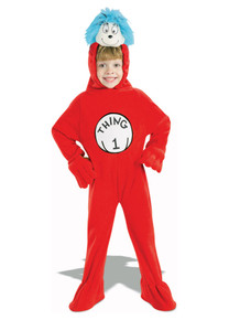 Thing 1 Cat In The Hat Child Costume Small 4-6