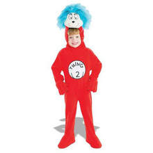Thing 2 Cat In The Hat Child Costume Small 4-6