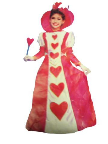 QUEEN OF HEARTS COSTUME*CLEARANCE* CHILD 8-10
