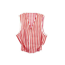 Vest Red & White Striped