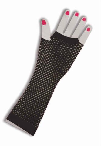 FISHNET FINGERLESS GLOVES BLACK