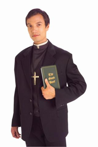 PRIEST SHIRT FRONT WITH COLLAR DLX