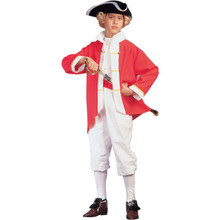 Colonial Captain Child Costume Red