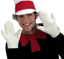 CAT IN THE HAT GLOVES ADULT