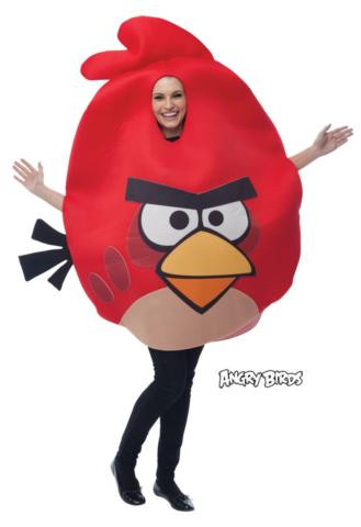 ANGRY BIRDS COSTUME RED ADULT STD