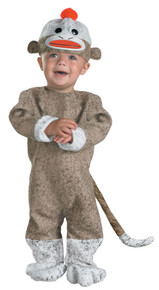 Sock Monkey Infant Costume 12-18 Months
