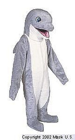 DOLPHIN MASCOT COSTUME-GREY- PURCHASE