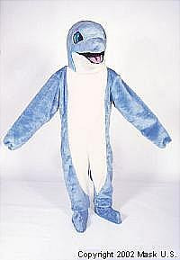 DOLPHIN MASCOT COSTUME-BLUE-PURCHASE