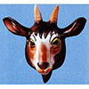 Goat Mask Plastic Animal