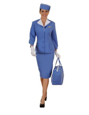 BLUE STEWARDESS COSTUME ADULT