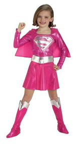SUPERGIRL PINK CHILD COSTUME