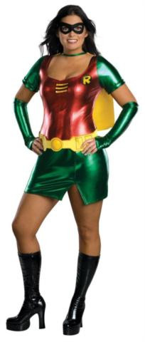 SEXY ROBIN PLUS SIZE ADULT COSTUME